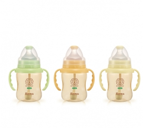 小獅王辛巴PPSU自動把手寬口葫蘆小奶瓶 Simba PPSU Wide Neck Feeding Bottle With Auto Straw and Handle 200ml | 【預購 Pre-Order】