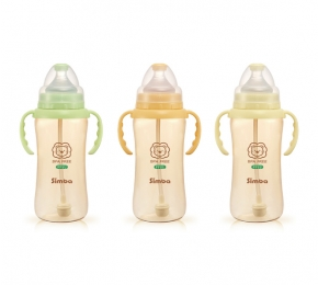 小獅王辛巴PPSU自動把手寬口葫蘆大奶瓶 Simba PPSU Wide Neck Feeding Bottle With Auto Straw and Handle 360ml | 【預購 Pre-Order】