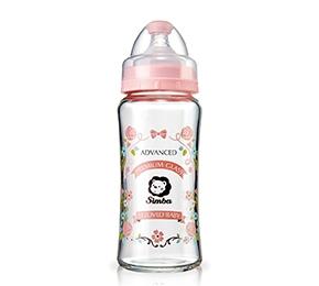 小獅王辛巴蘿蔓晶鑽寬口玻璃大奶瓶 Simba Crystal Romance Wide Neck Feeding Bottle 270ml | 【預購 Pre-Order】