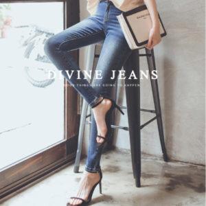 Mumu 台灣女孩訂制款修飾剪裁刷色窄管褲 Skinny Jeans |【現貨 Ready Stock】